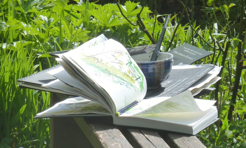 Sketching DOve Cottage Garden, Alison Critchlow