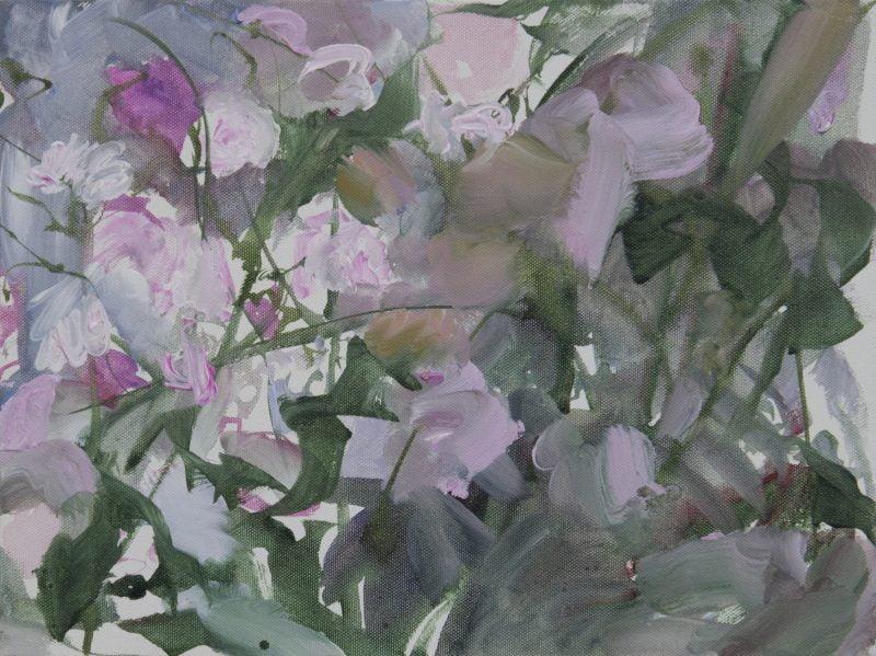 001 Alison Critchlow Gloaming, Dove Cottage Garden 40 X 30cm