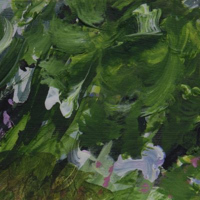 001 Dove Cottage Garden, Green Rhythm 22x11cm Mixed Media On Board Alison Critchlow 2018