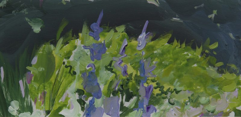 002 'Dark Sky, Dove Cottage Garden' 22 X11cm Mixed Media On Board Alison Critchlow 2018