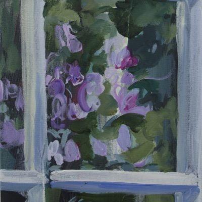 003 'Wordsworth's Window' Acrylic On Canvas 40 X30 Cm Alison Critchlow 2018