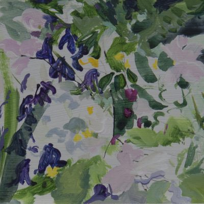 004 'Rhythm Of Spring' ,Dove Cottage Garden 22 X11cm Mixed Media On Board Alison Critchlow 2018