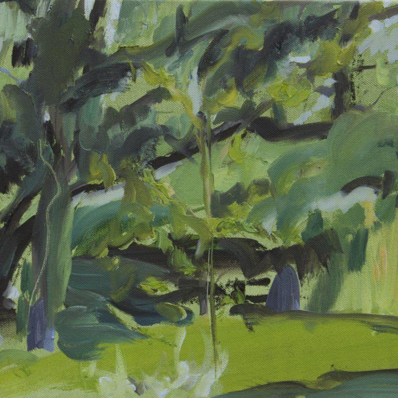 005 'Dove Cottage Garden,Evening' Oil On Canvas 40 X30 Cm Alison Critchlow 2018