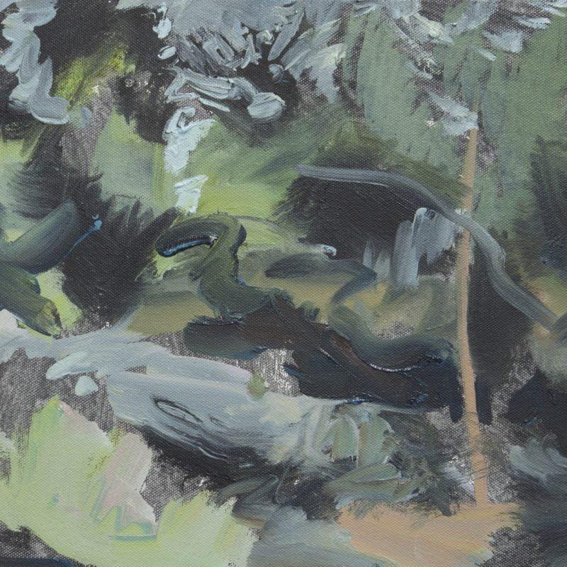 006 'Fading Light, Dove Cottage Garden' Oil On Canvas 40 X30 Cm Alison Critchlow 2018