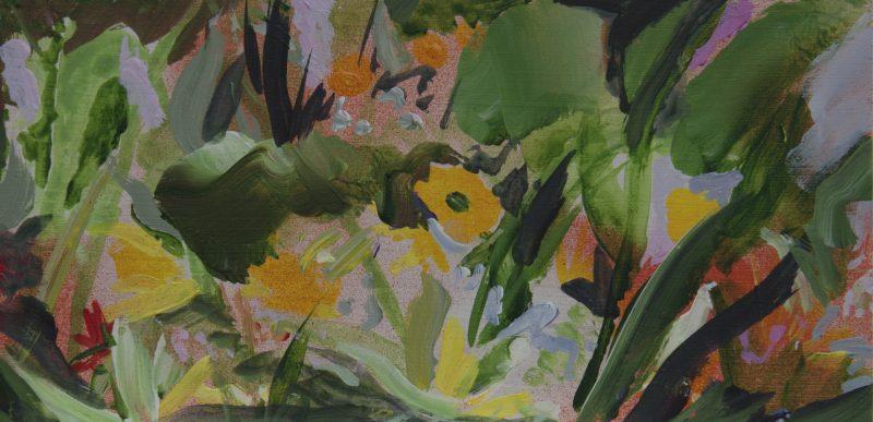 010 'June Flower Rhythm 22 X 11cm Mixed Media On Board Alison Critchlow 2018
