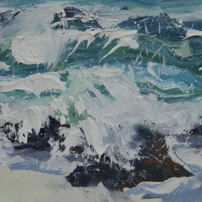 001 'Dancing Waves' Oil On Board 45 X 24 Cm 2017 Alison Critchlow