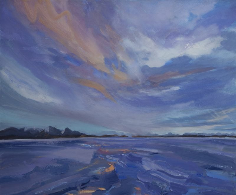 001'Heading North' Oil On Canvas 120 X100 Cm 2010