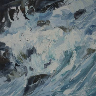 002 'Flood Tide 1' 2017 Oil On Canvas Alison Critchlow