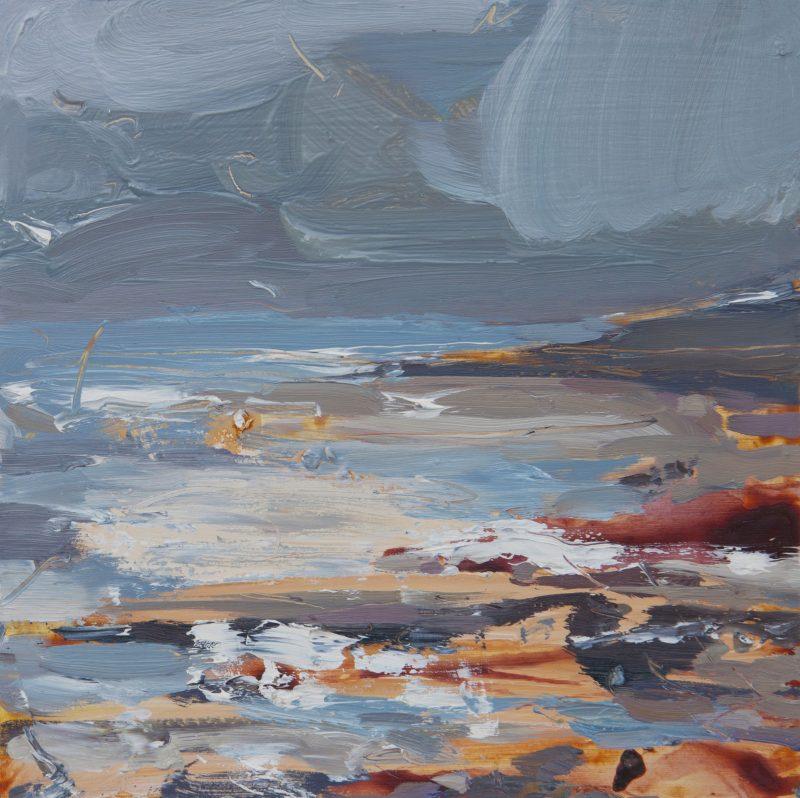 002 Tidal Landscape' 2020 Oil On Board,Alison Critchlow
