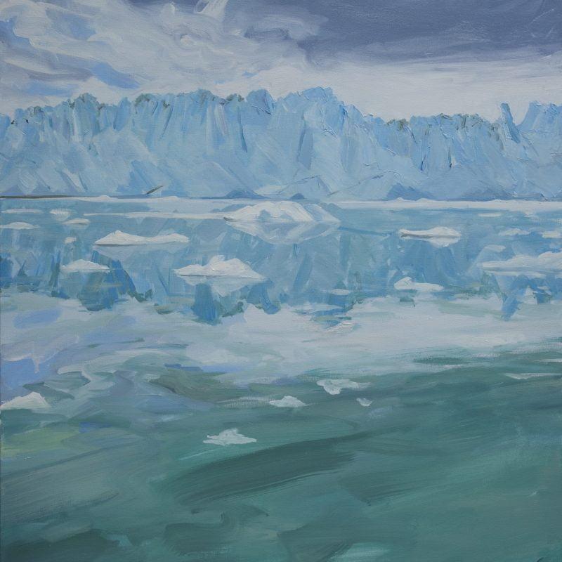 002'Glacier' Oil On Canvas  Approx 100 X 80 Cm2010