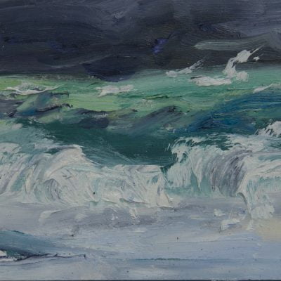 004 'Dark Sky, Iona' Oil On Board Approx 20 X 15 Cm Alison Critchlow 2017