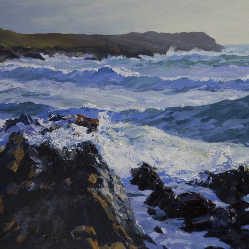 004 'Waves, Saligo Bay' Oil On Canvas 115 X 95, 2006 Cm