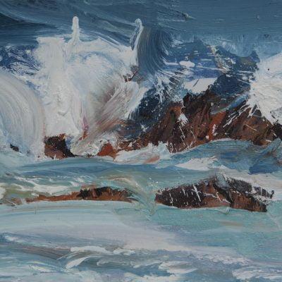 005 'Rhythm Of The Sea' Oil On Board 45 X 24 Cm 2017 Alison Critchlow
