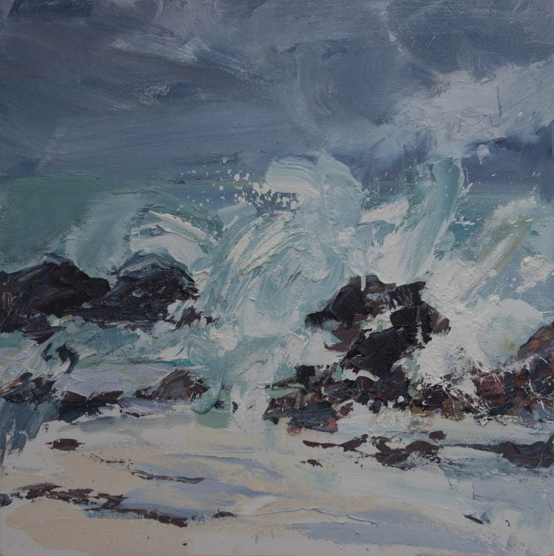 006 'Incoming Tide, North Beach' Oil On Canvas 60 X60 Cm  2017 Alison Critchlow