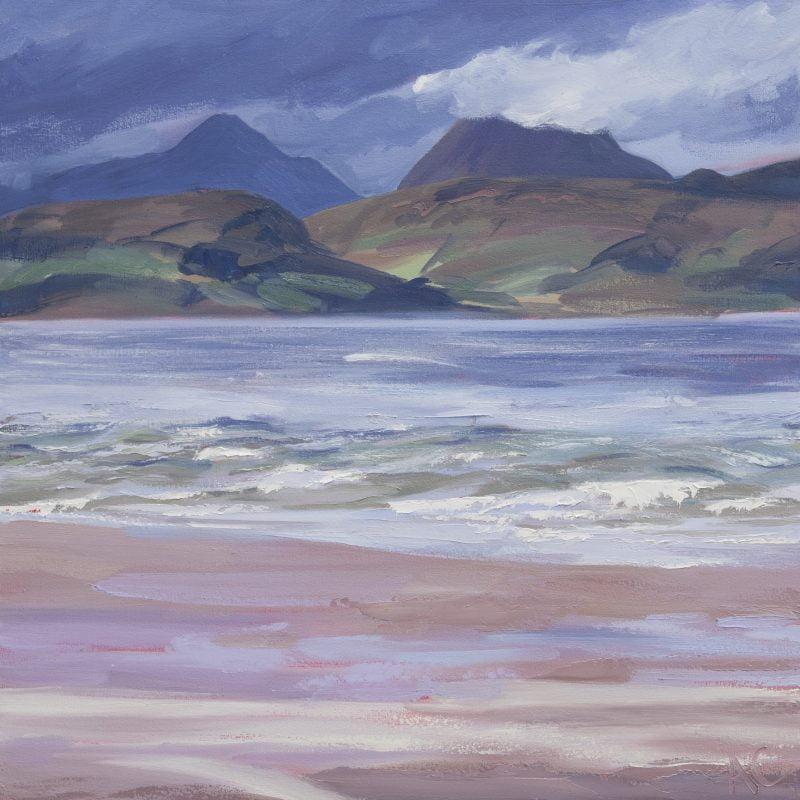 006 'Sand, Raasay, Skye' Oil On Canvas 75 X70 Cm 2006