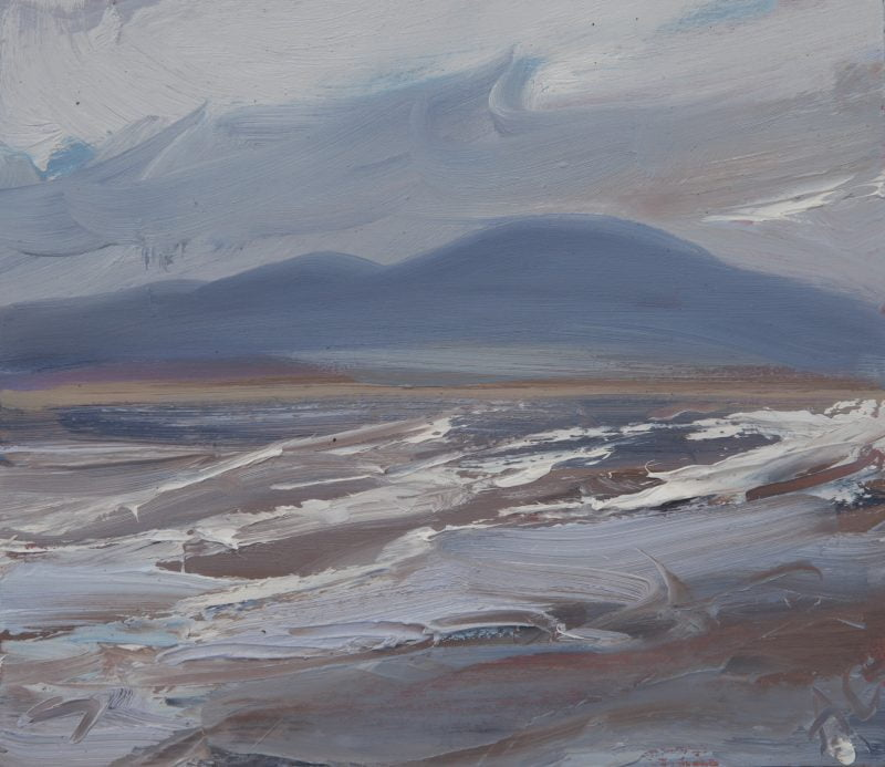 006 'Solway Waves, Criffel' Oil On Board Alison Critchlow
