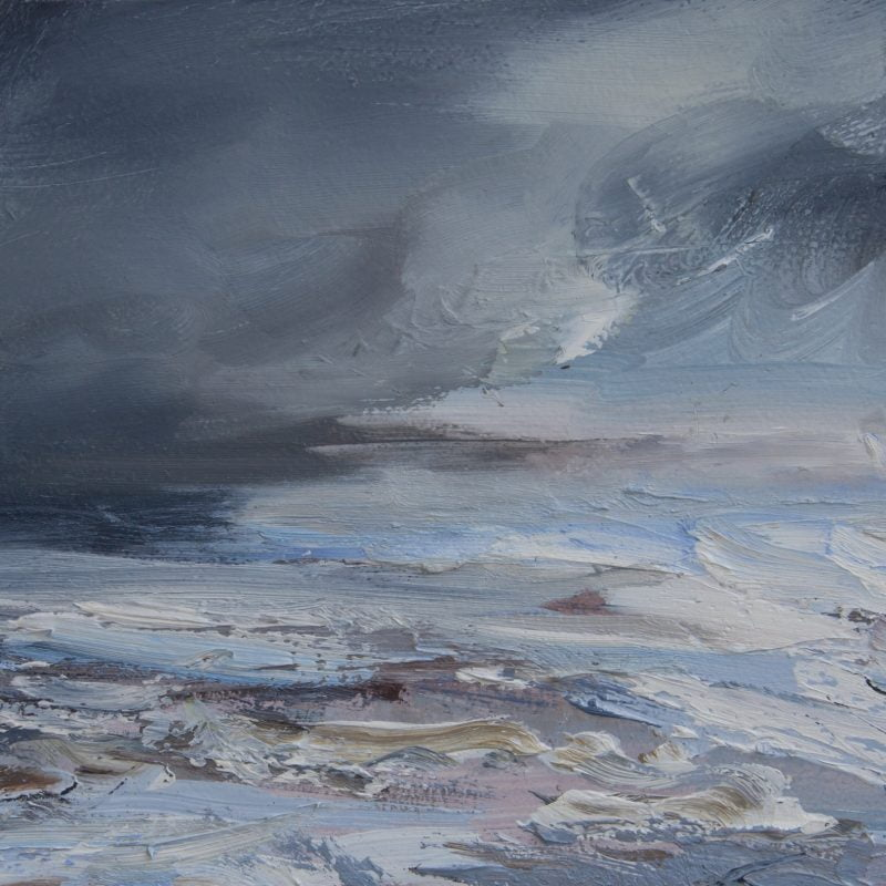 007 'Dark Clouds, Solway Firth' 30 X16 X2 Cm Oil On Gesso Panel Alison Critchlow 2020
