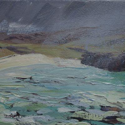 008 Handa Island' Oil On Canvas Alison Critchlow