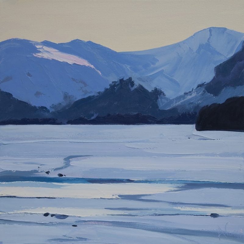 008 'Ice, Jaws Of Borrowdale' Oil On Canvas 60 X60 Cm 2010