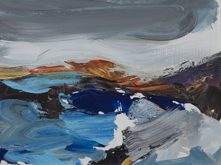 009 'Road To The Isles' 20 X 15 Cm Alison Critchlow Oil On Board