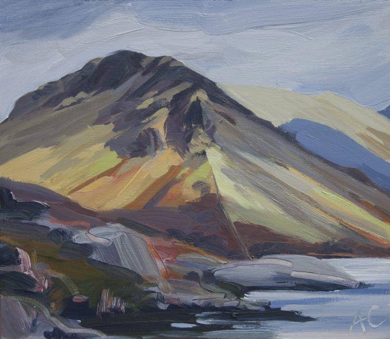 009 'Yewbarrow' Oil On Board , 2012 Approx 24 X 24 Cm