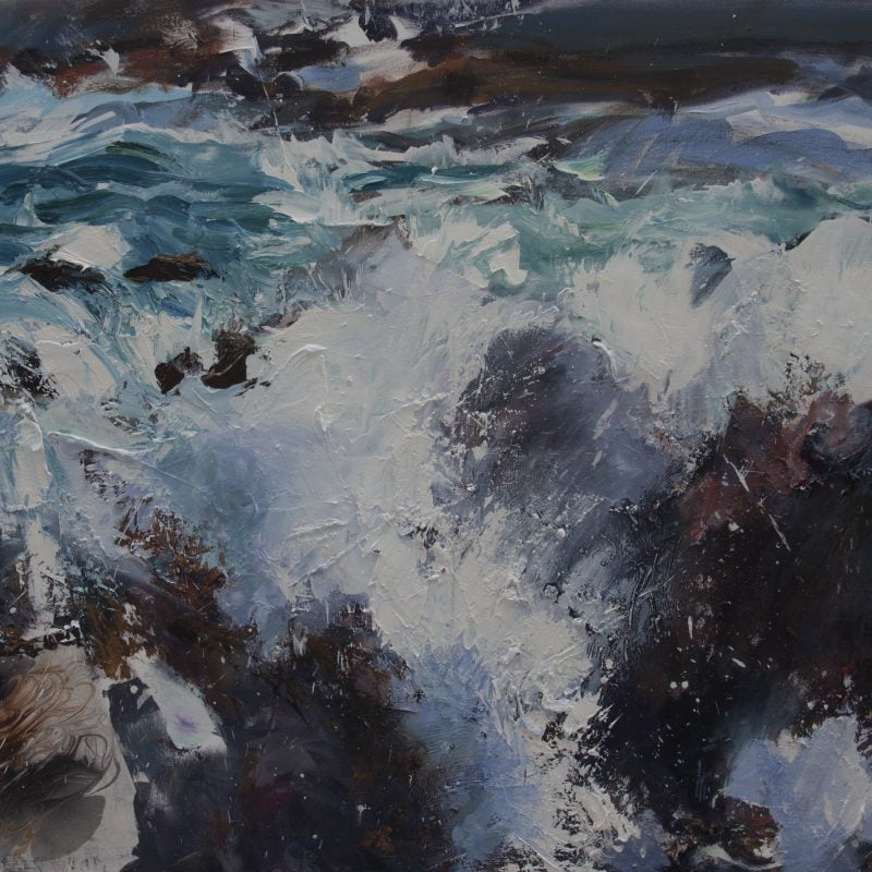 009'Saligo Bay' Oil And Collageon Canvas,2020 Alison Critchlow