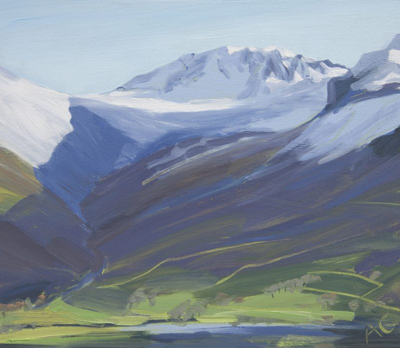 010 'Sun And Snow' Approx 30 X24cm Oil On Board 2012