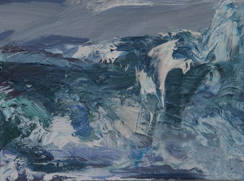010 'Tiree', Oil On Board 2020 Alison Critchlow