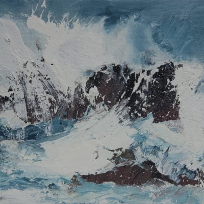 011 'Crashing Wave, February' Oil On Canvas 30 X23 Cm 2017 Alison Critchlow