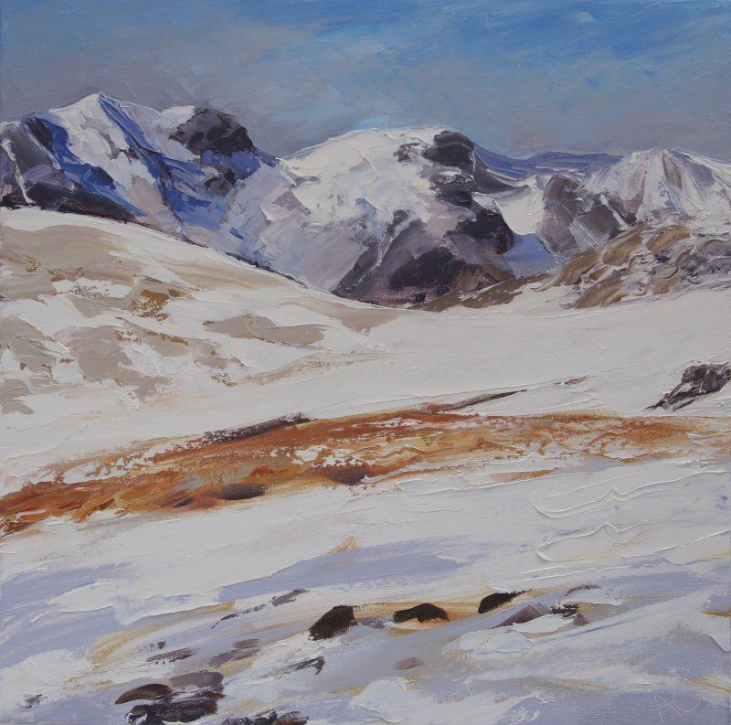 012 'Towards Scafell' Oil On Canvas 60 X60 Cm 2009