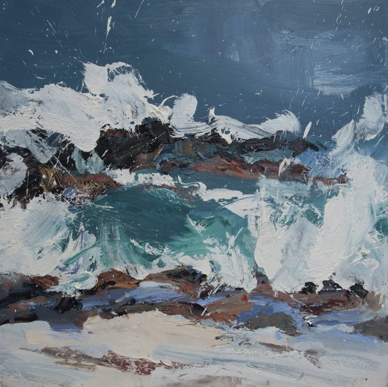 012 'Turn Of The Tide, North Beach' Oil On Board 60 X60 Cm 2017 Alison Critchlow