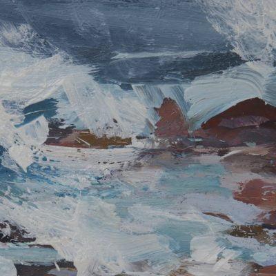 013 'Iona, Rocks' Oil On Board 2020 Alison Critchlow