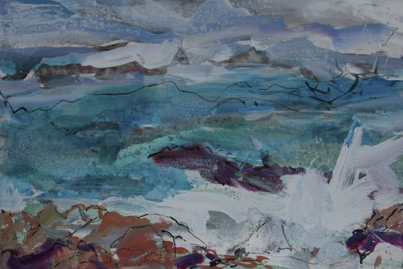 014 'Sea Drawing' Mixed Media On Board 45 X 30 Cm 2017 Alison Critchlow 2017