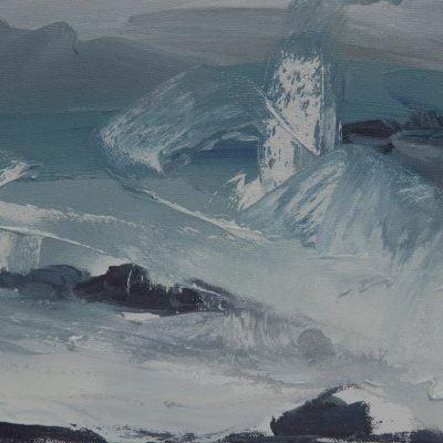015 'Flood Tide, Fog' Oil On Canvas 2017 Alison Critchlow