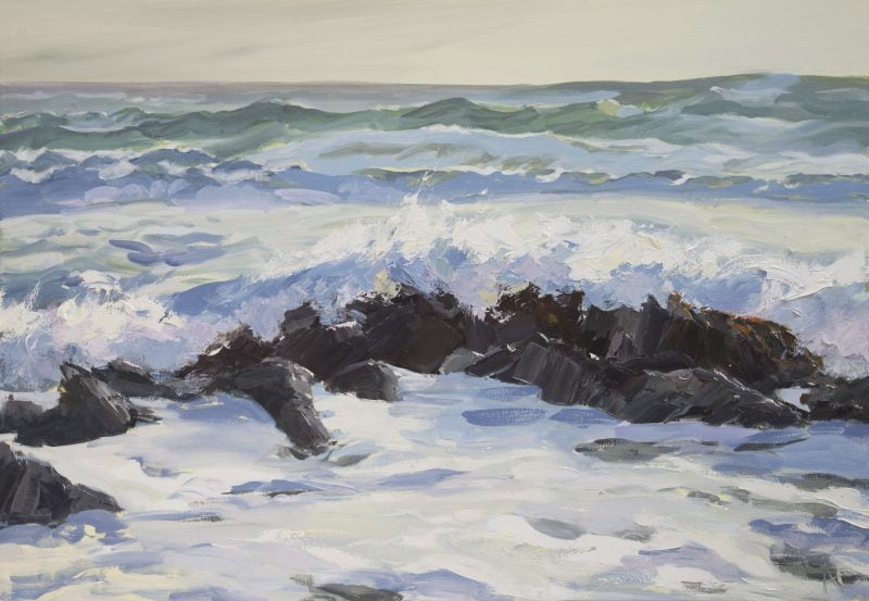 015  'Incoming Tide' Oil On Canvas Approx 100 X 75 Cm 2011