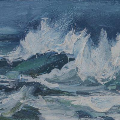 015 'Wind Blown Waves' Oil On Board Alison Critchlow