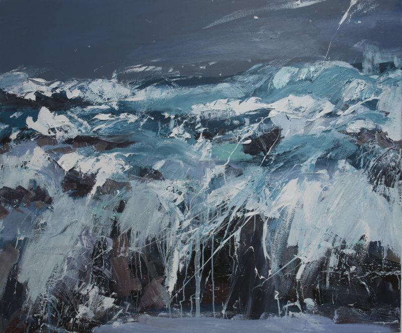 017 'Big Sea, Balevullin' Oil On Canvas 120 X 100 Cm 2014