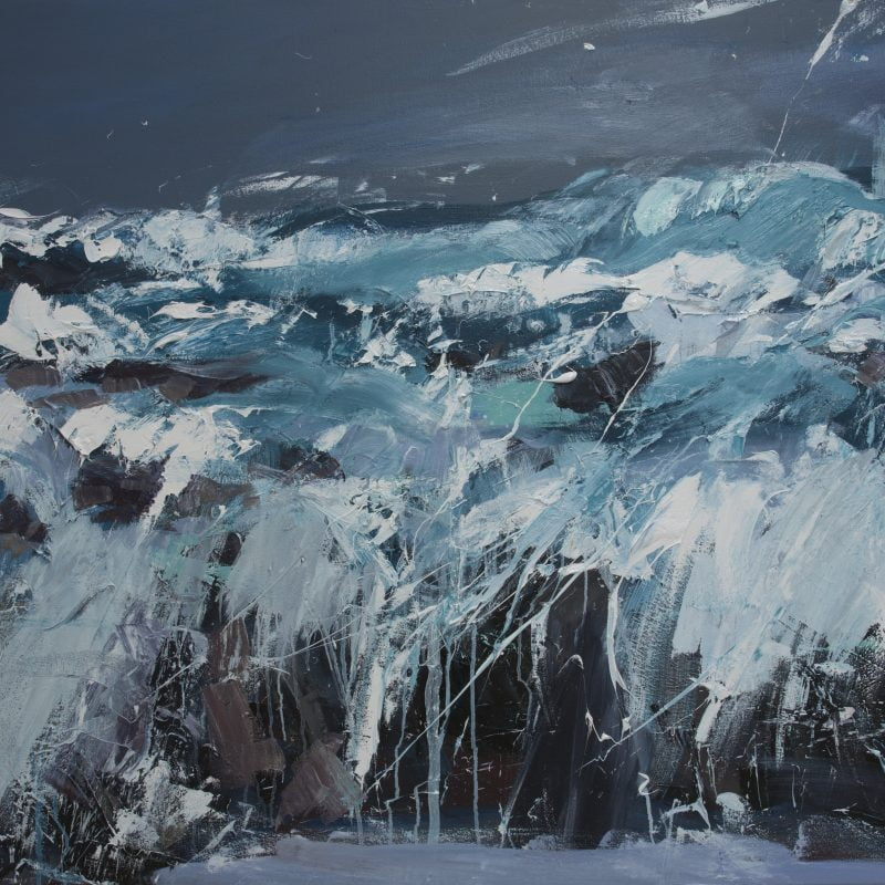 017 'Big Sea, Balevullin' Oil On Canvas 120 X 100 Cm 2014