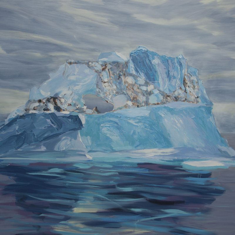 001 'Drifting Iceberg' 150x 122x 4 Cm Oil And Acrylic On Canvas  Alison Critchlow
