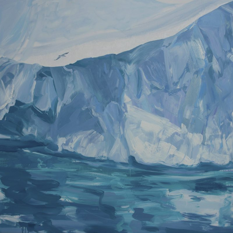 002 'Wall Of Ice' Oil And Acrylic On Canvas 150 X 122 X 4 Cm