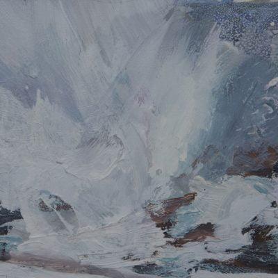 002'North Beach Rocks, Iona, Study', Oil On Board Alison Critchlow