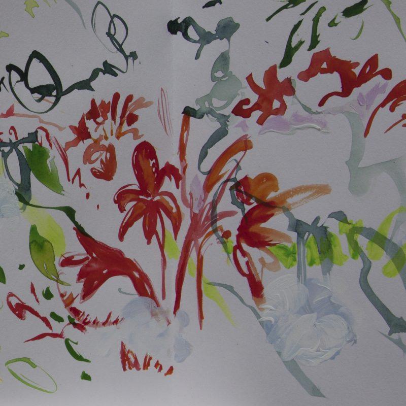 003 Alison Critchlow Concertina Sketchbook Page, (detail 3) Dove Cottage