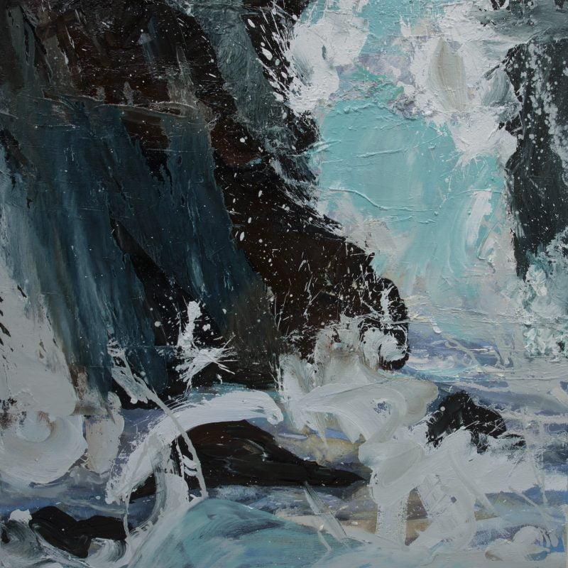 007 'Tidal Variancies' Oil On Canvas 80 X80 Cm Alison Critchlow
