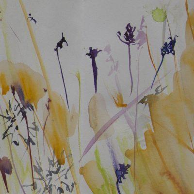 008 Concertina Book,page Detail Summer Grass Rhythm  Dove Cottage Garden
