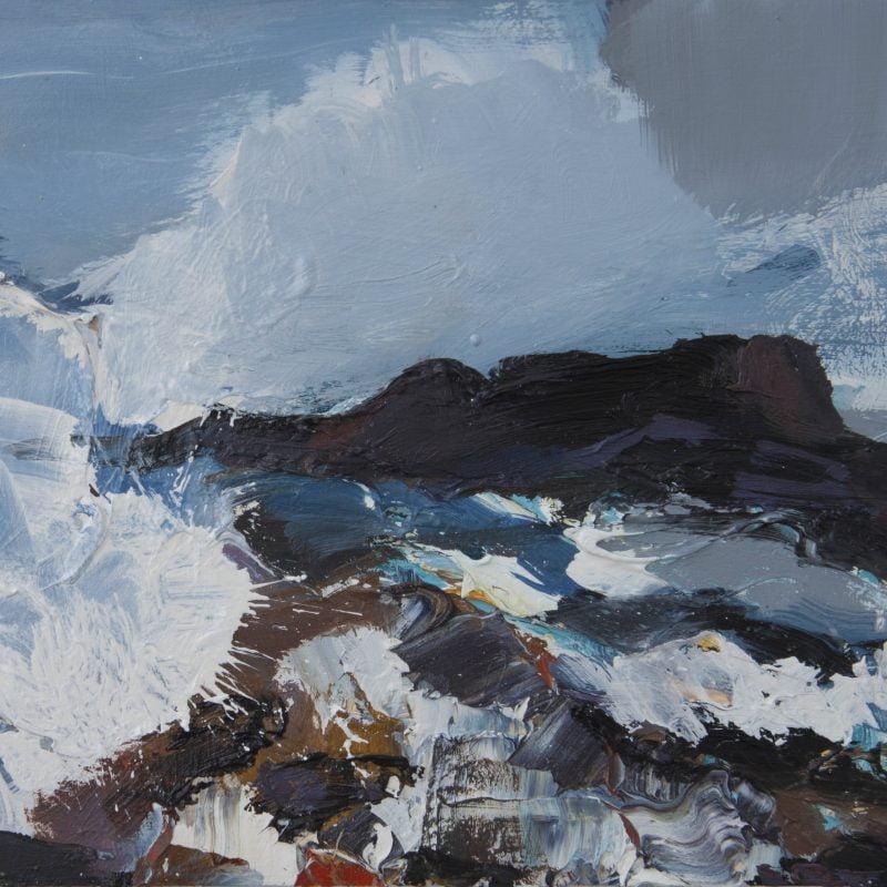 009 'Waves Crashing, Outer Hebrides' Oil On Board 2020