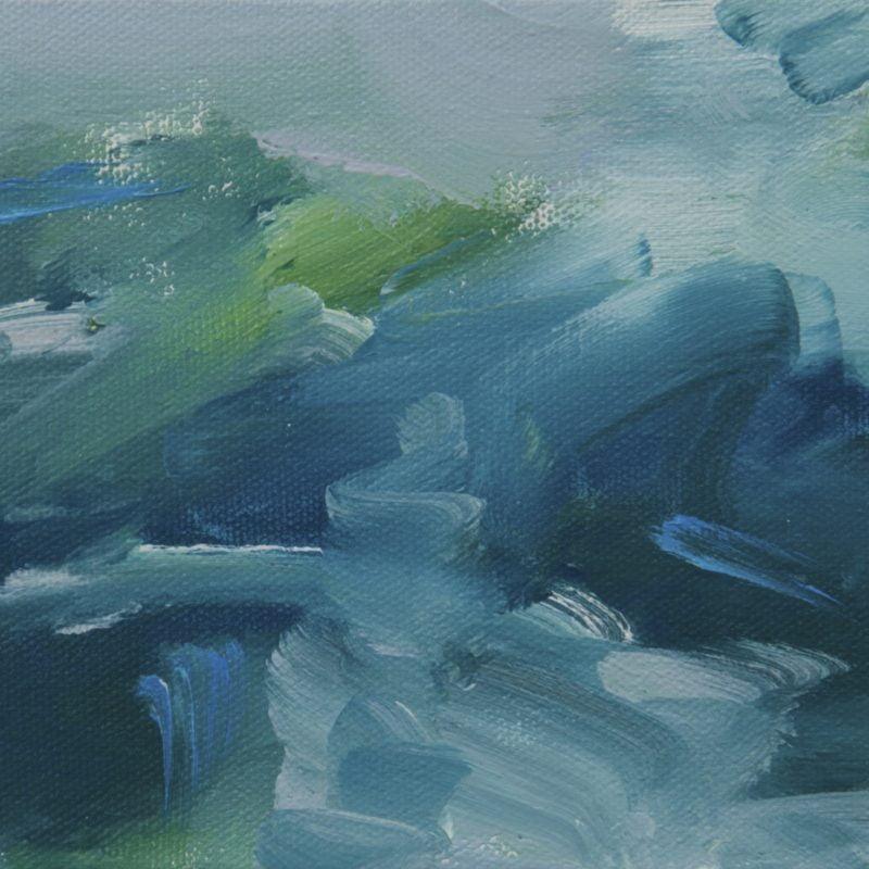 010 'Damselflies' Oil Opn Canvas Approx 20 X 15 Cm 2015