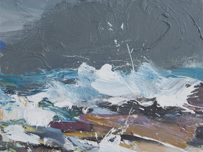 011'Dark Sky, Road To The Isles' Oil On Board 20 X 15 Cm Alison Critchlow 2020