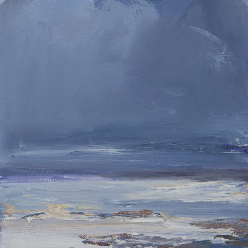 014 Rain Over The Estuary Oil On Board,Alison Critchlow (1)