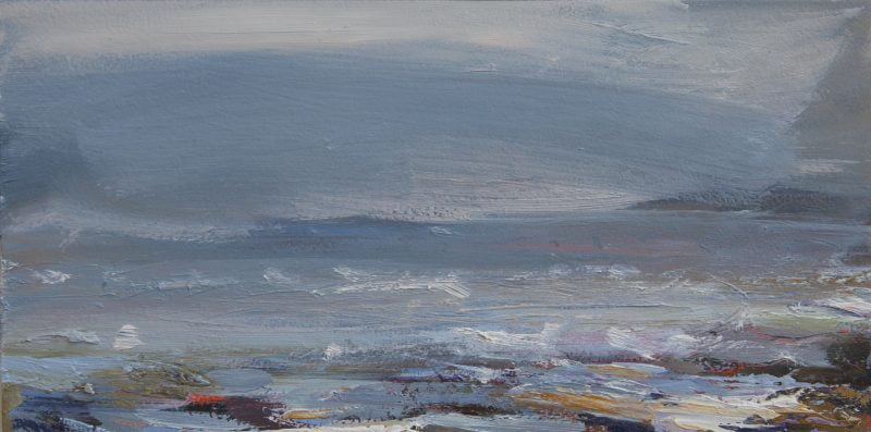 015'Estuary' 30x16 X2 Cm Oil On Gesso Panel Alison Critchlow 2020 Copy