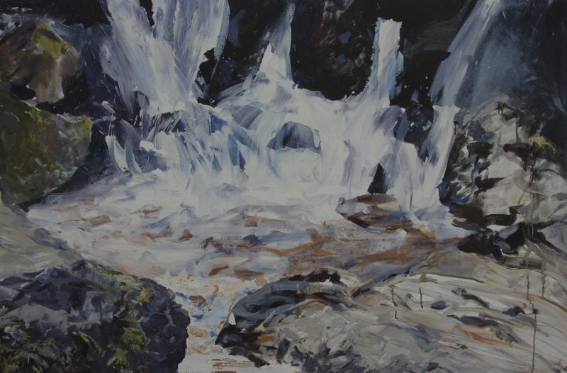 004 'Lodore Falls', Oil, Acrylic And Pencil On Canvas, 150 X 100 Cm  Alison Critchlow 2019